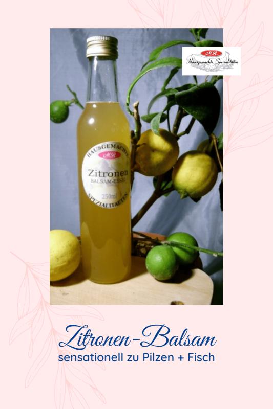 Zitronen-Balsam-Essig-Zubereitung